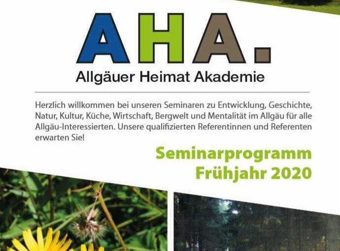 Allgäuer Heimat Akademie Frühjahr 2020